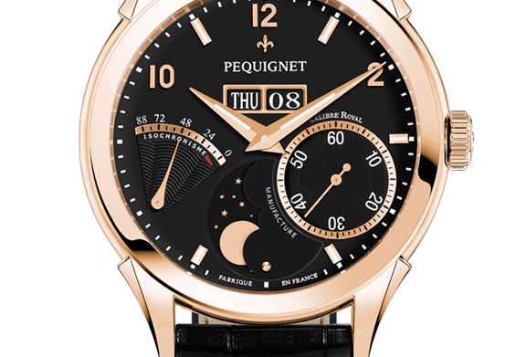 Pequignet Rue Royale Rosegold, Day-Date, Moonphase