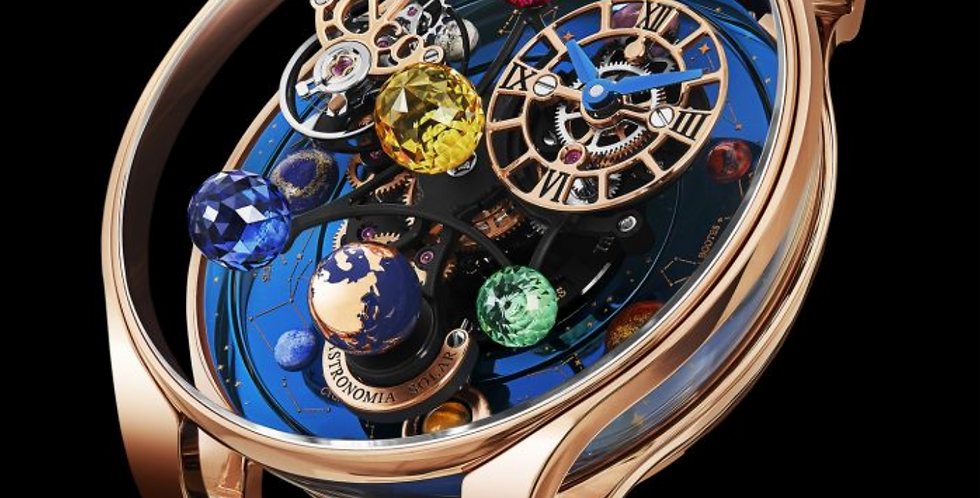 Jacob & Co. Astronomia Solar Constellation Planets and Yellow Stone