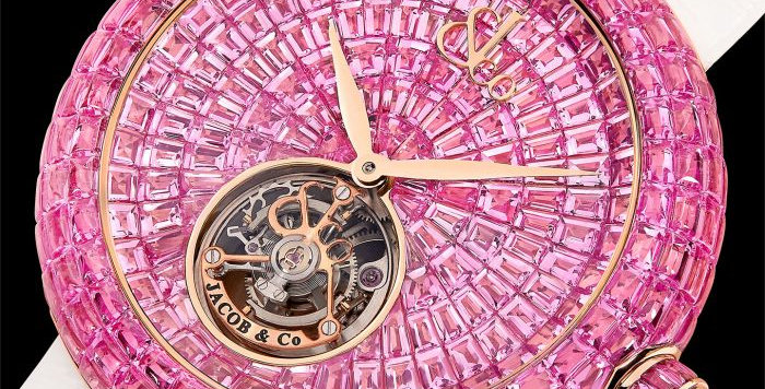 Jacob & Co. BRILLIANT FLYING TOURBILLON PINK SAPPHIRES 18 Pieces Limited