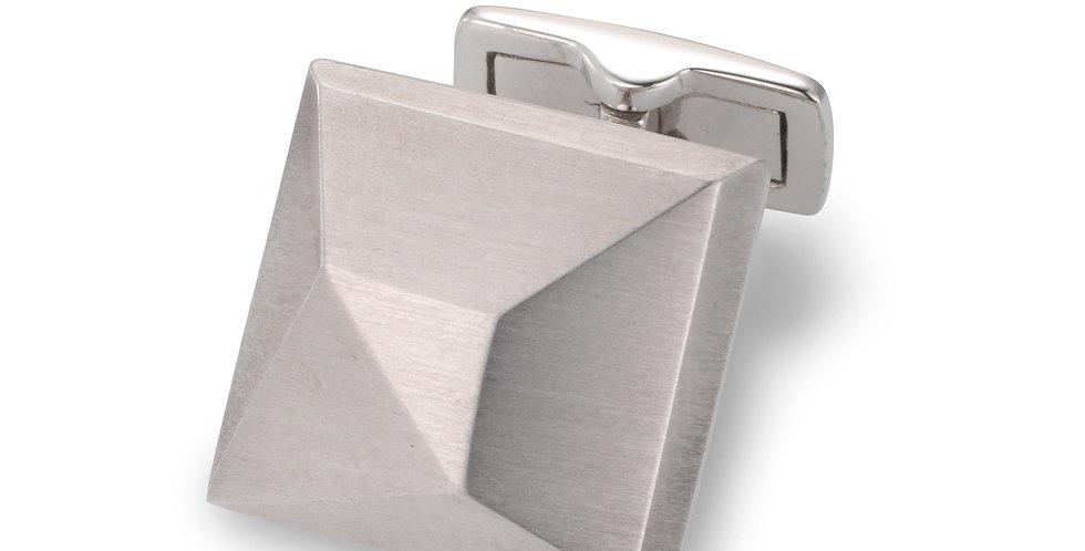 1 Paar handgearbeitete Manschettenknöpfe aus 750/Weissgold matt