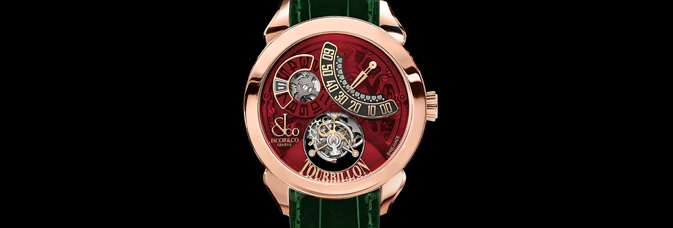 Jacob & Co. PALATIAL FLYING TOURBILLON JUMPING HOURS ROSE GOLD (RED MINERAL CRYS