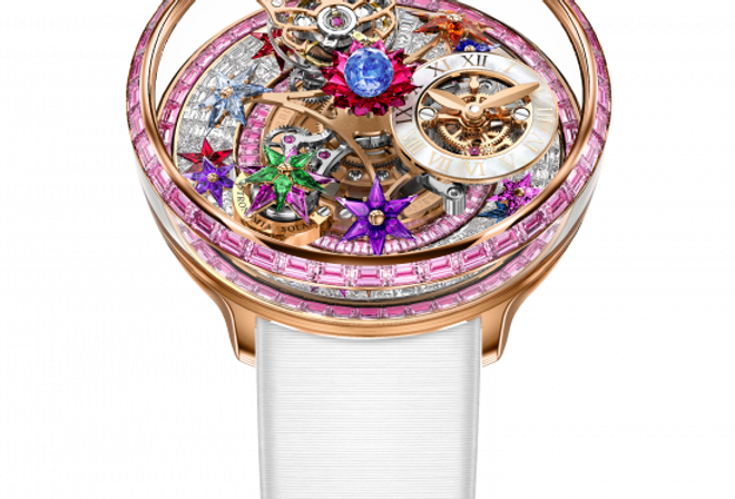Jacob & Co. FLEURS DE JARDIN PINK SAPPHIRES BAGUETTE DIAMONDS 36 Pieces Limited