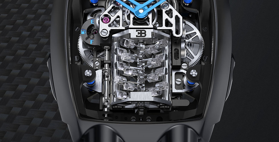 Jacob & Co. Bugatti Chiron 16-Zylinder Tourbillon, Black Titanium