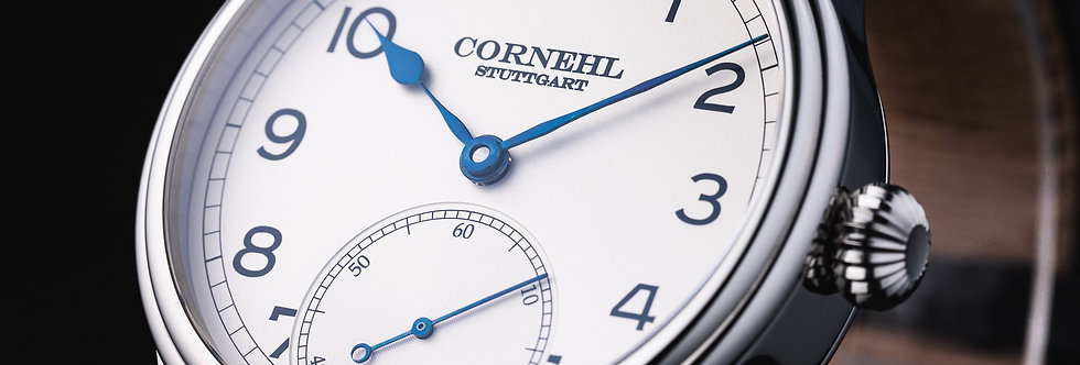 Cornehl Classic Silver Lünette glatt, Zwiebelkrone