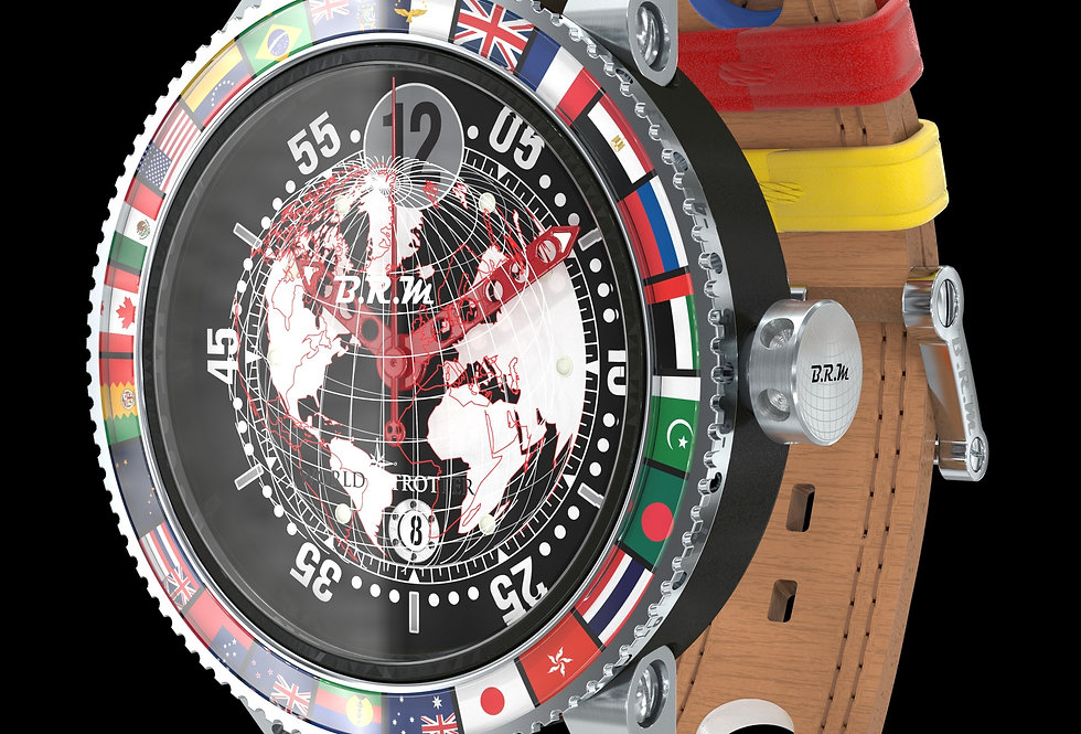 B.R.M GMT 6 World Trotter nubuk