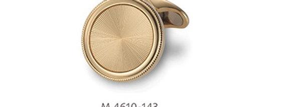 1 Paar handgearbeitete Manschettenknöpfe aus 750/Gold, Gelbgoldplatte diam.