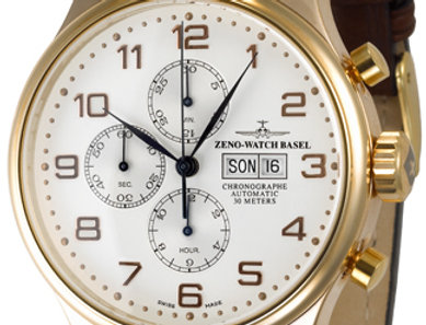 OS Retro Chronograph Day-Date 18ct red gold