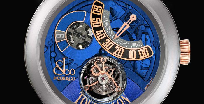 Jacob & Co. PALATIAL FLYING TOURBILLON JUMPING HOURS TITANIUM (BLUE MINERAL CRYS