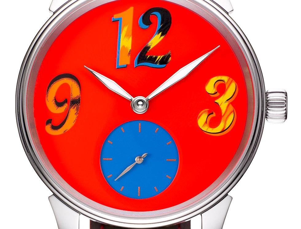 Leinfelder Uhren München PopArt Manufaktur Kaliber, Alligatorband in 9 Varianten