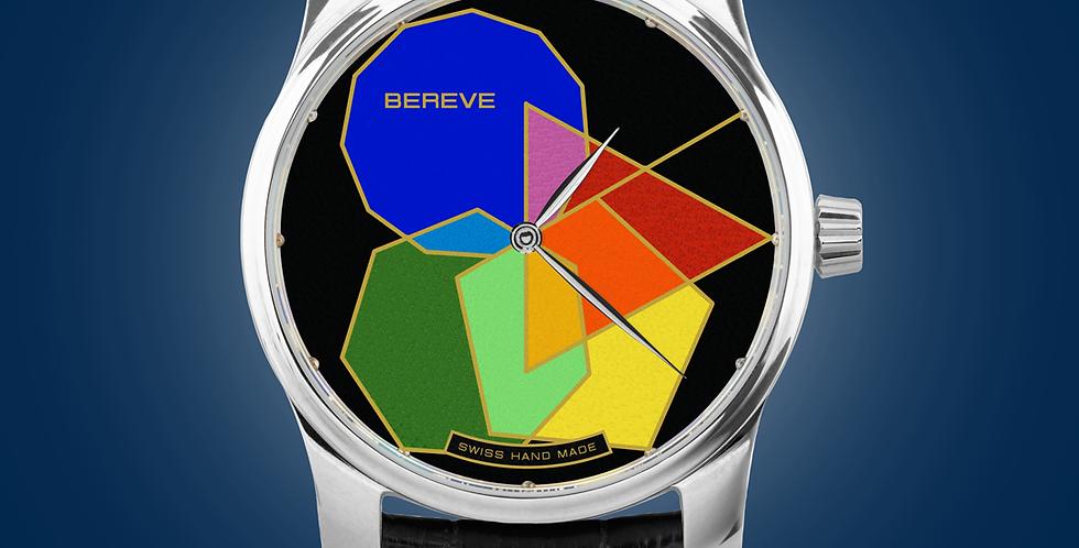 "Bereve Polygonal PRIME Gold Dial Champlevé ""Grand Feu"""