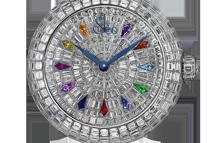 Jacob & Co. Brilliant Automatic Baguette Diamonds & Kite Sapphires