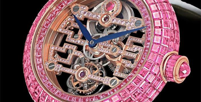Jacob & Co. Brilliant Art Deco Pink Sapphire