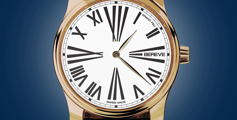 "Bereve Emperor 18k 4N Gold White Dial ""Grand Feu"""