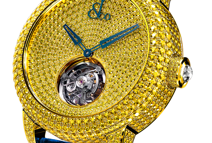 acob & Co. Caviar Tourbillon Pave Yellow Diamonds Piece Unique