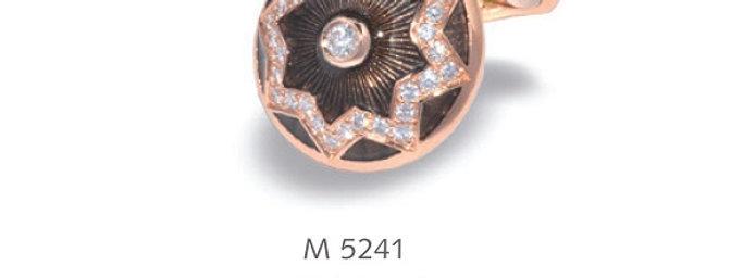 1 Paar handgearbeitete Manschettenknöpfe aus 750/Rotgold, 34 dia, total 0,46 ct.