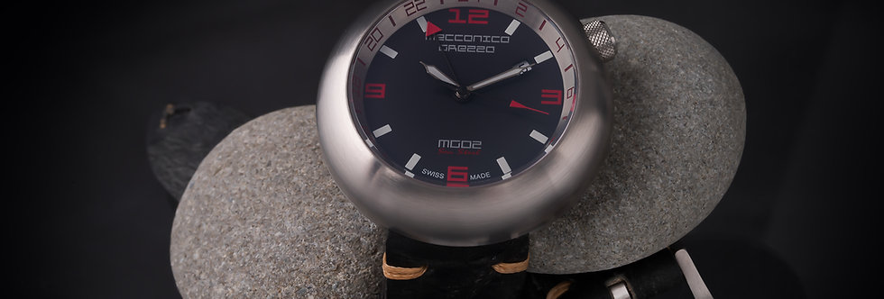 """Meccanica Grezza MG02 """"Sea Steel GMT"""""""