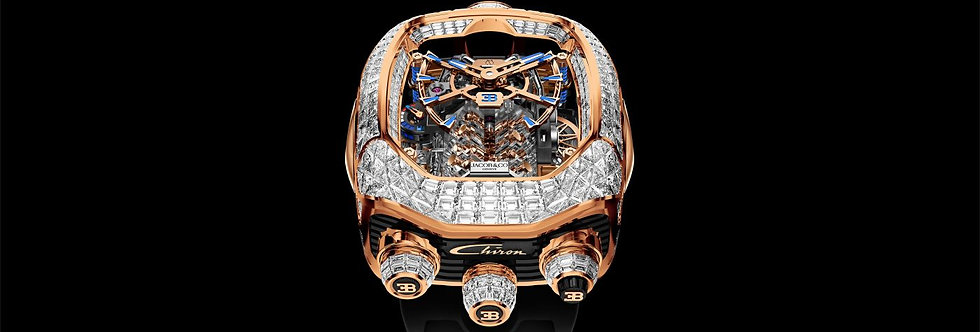 Jacob & Co. Bugatti Chiron Tourbillon Baguette White Diamonds