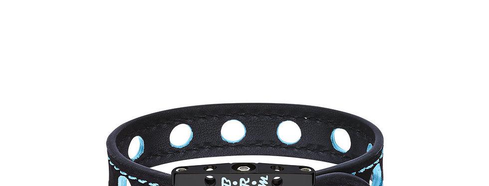 Speed BRM Armband aus schwarzem Titan und blauem Lack 290c