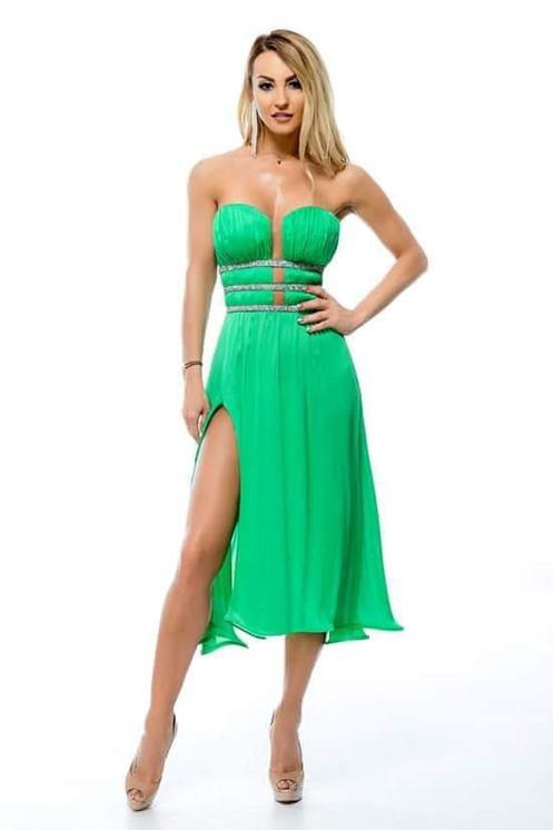 best sneakers 021fc 35754 Abito elegante verde