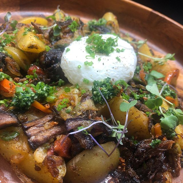 Short Rib Hash. Poached Egg.