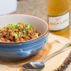 A simple dish like this. It brought out so much emotion. Rice and Peas. A dish my ancestors ate and