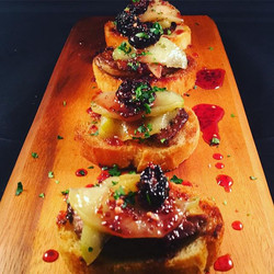 Foie Gras w. Caramelized Granny Smith Apples & Cherry Mustarda. It's levels to this shit man. I'm on