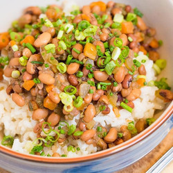 Red Peas for good luck.