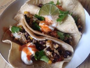Mexican Egg White Quinoa Breakfast Tacos