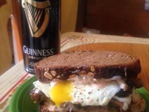 Tempeh Reuben St. Patty's Hangover Sandwich