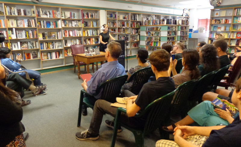 A reading at Prairie Lights Books, image used with permission from Prairie Lights Bookshop