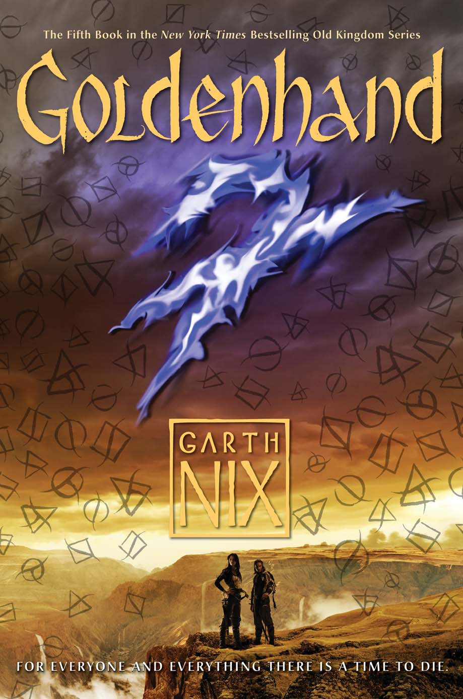 Garth Nix's latest Goldenhand, image used with permission from Harper Collins
