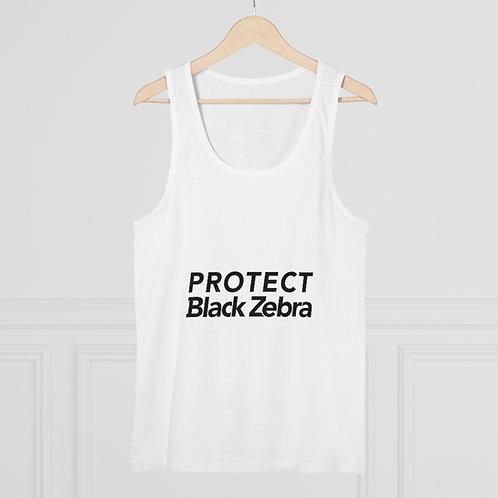 Protect Black Zebra Tank Top