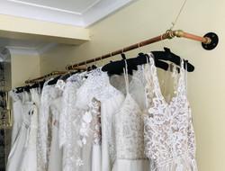 Wedding dresses on rails 1