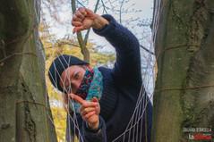 Ragnatele di fili colorati per trattenere energie positive: le installazioni di Sara Celeghin nei parchi dell'Arcella