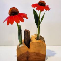 Red Cedar Wood Propagation Station, Bud Vase