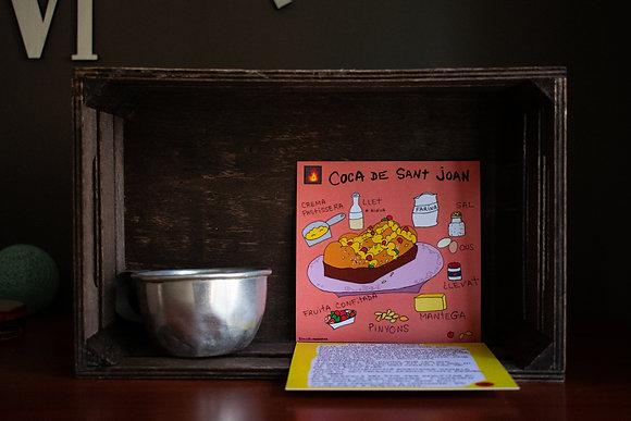 "Postal ilustrada ""coca de Sant Joan """
