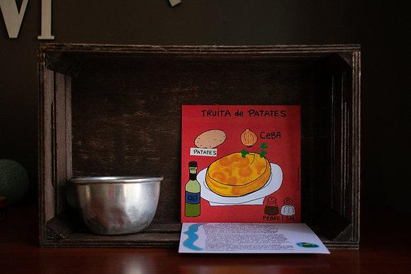 """Postales ilustradas""""tortilla de patatas"""""""