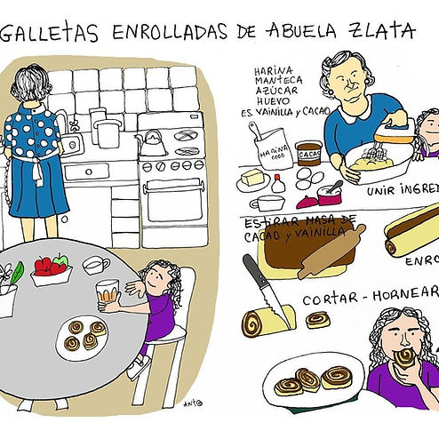Receta Ilustrada - Galletas de la Abuela Zlata | Mandarina Cocina