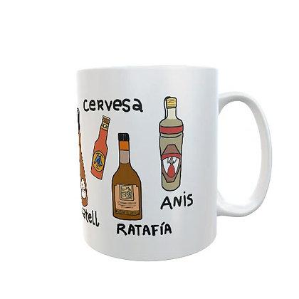 Taza diseño bebidas catalanas
