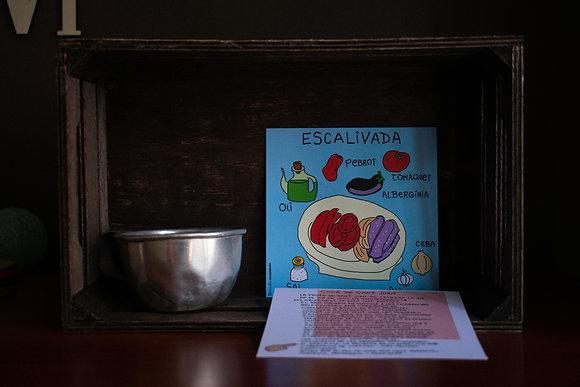 "Postales ilustradas ""escalivada"""