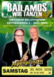 Flyer A5 Bailamos wir tanzen 2019 Thun 0