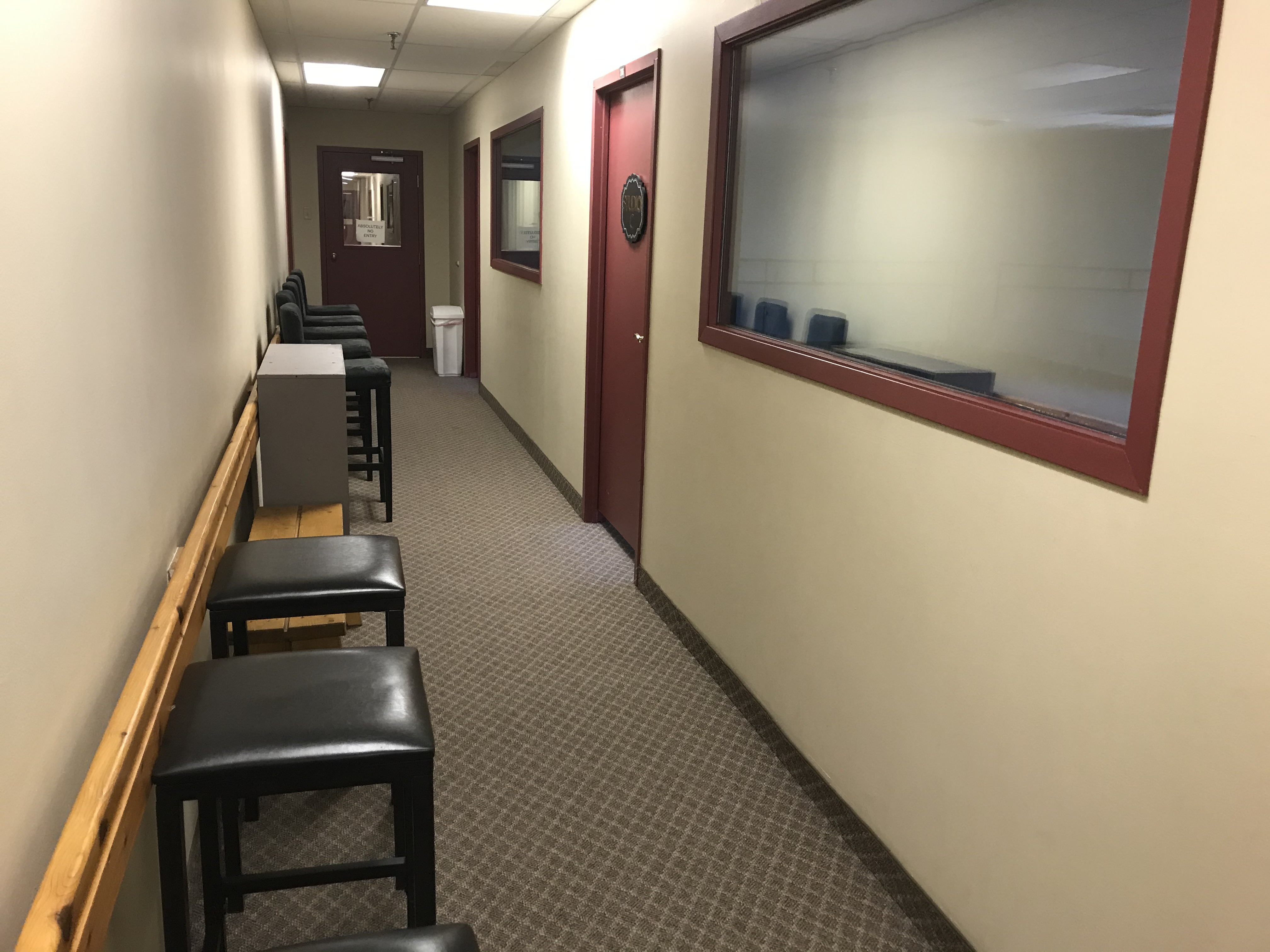 Hallway outside or Studio C