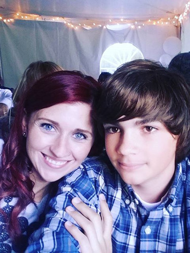 Kristin and her step-son Dominic