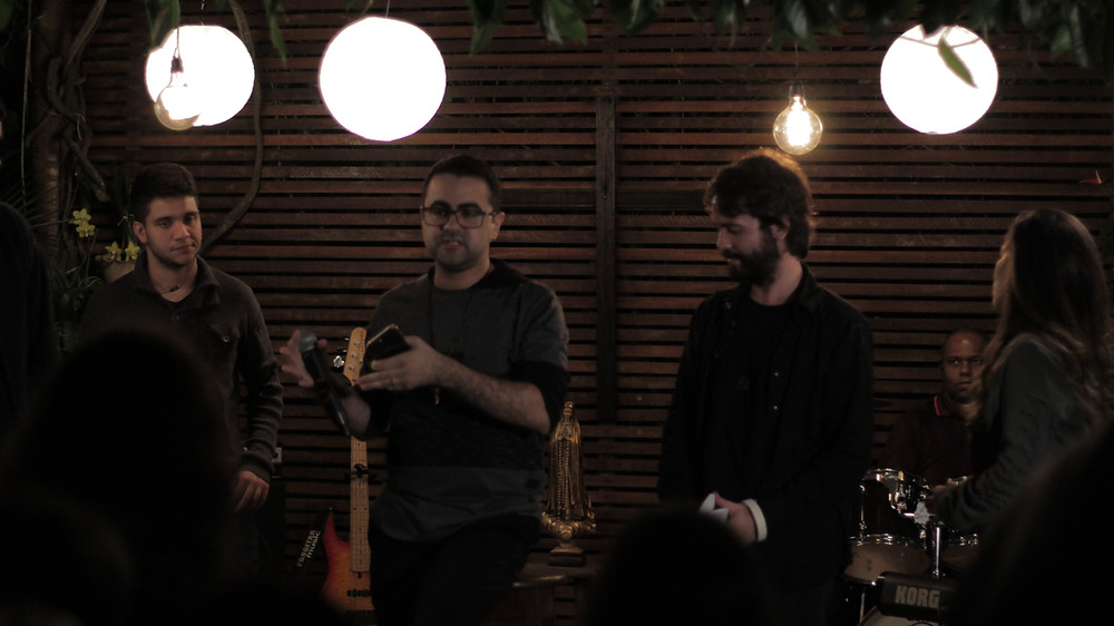 Felício, Lyneker, Eduardo e Aline Brasil - gravação live session Éfeta