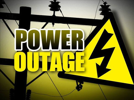 Power Outage, Sat 25-Jan