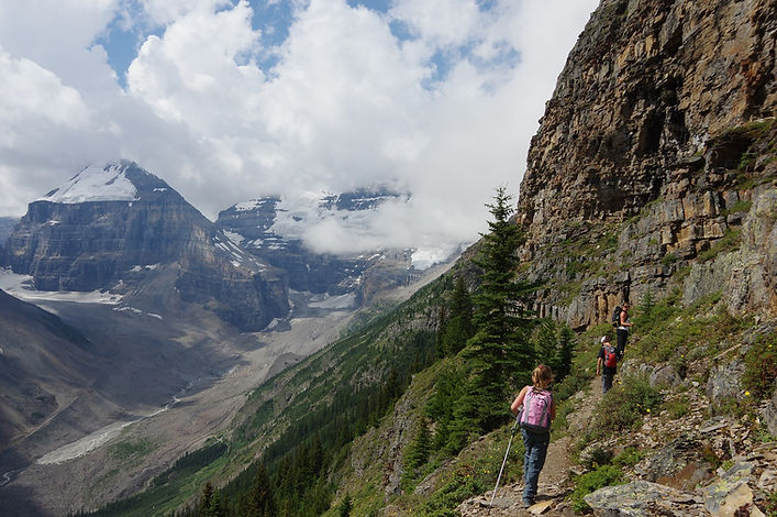Devils Thumb - Lake Louise- Atkins family hiking