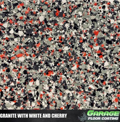 Granite with White and Cherry