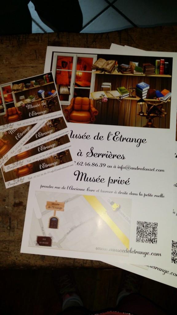 les flyers et les affiches du Musée