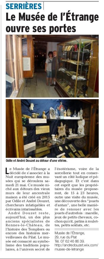 Presse pour la Nuit des Musées