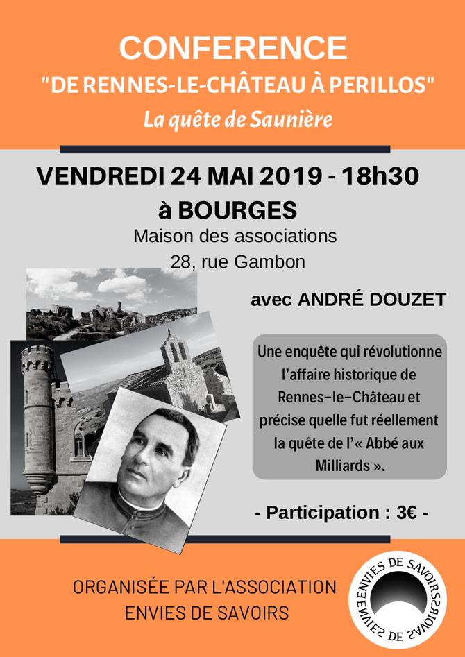 Conférence à Bourges le 24 mai 2019
